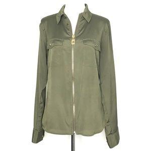 Michael Kors Full Zip Long Sleeve Shirt A090244
